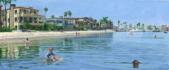 Alamitos Bay 24x48 Custom Size Art