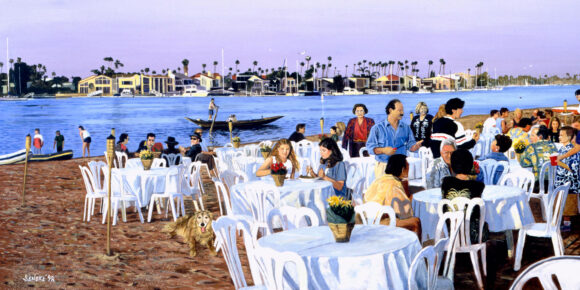 Birthday on the Beach 24x12